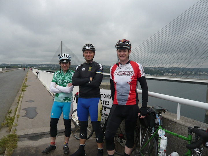 Eoghan, Andreas and Andy reach Brest
