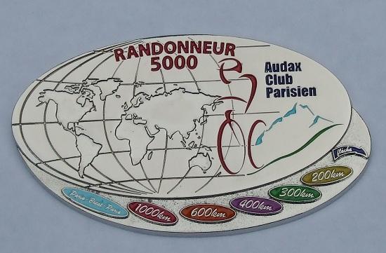 ACP Randonneur 5000 medal