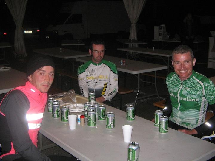 Ultan, Dave, Paul at the Arrivee